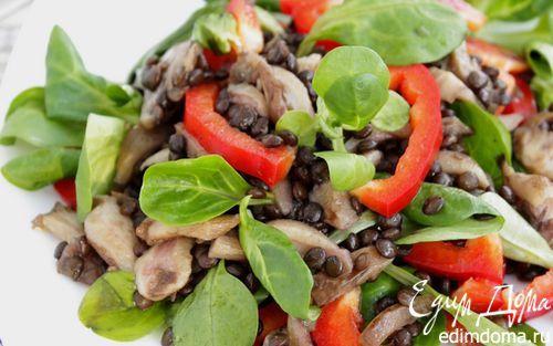 Салат с чечевицей «Белуга» | Кулинарные рецепты от «Едим дома!»