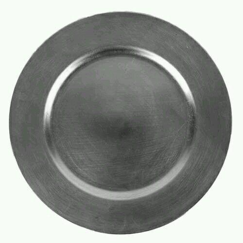 Dekoteller , Platzteller silber 33cm in Möbel & Wohnen, Kochen & Genießen, Gedeckter Tisch | eBay