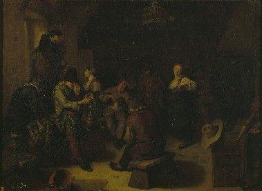Бега Корнелис Питерс (Bega, Begga, 1620-1664) - Сельский концерт (1660-е, Royal Museums of Fine Arts of Belgium)