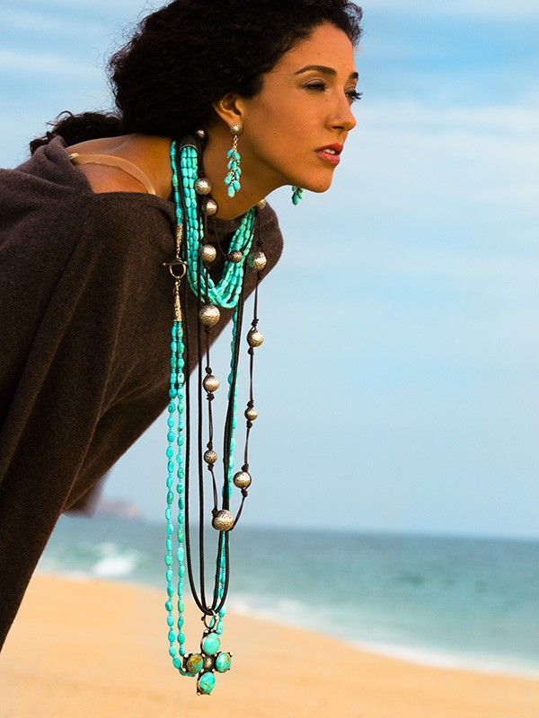 Brit West necklaces Love the large silver beads on leather!