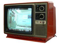 ガチャガチャとチャンネルを回すテレビ
