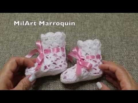 Zapatitos Facil Crochet - YouTube