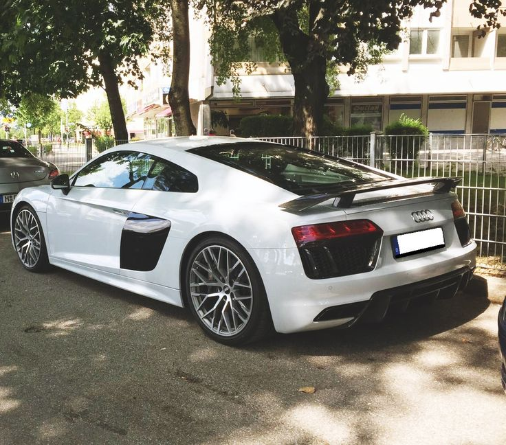 Audi R8 V10 Plus | White | #rent #german #car #supercar #sportscar #luxury #auto #sports #car #r8