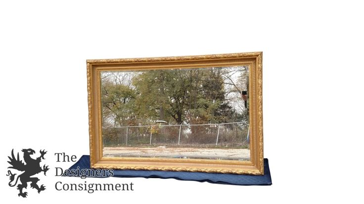 Stunning La Barge Gold Regency Baroque Louis XV Style Beveled Wall Mirror 69"