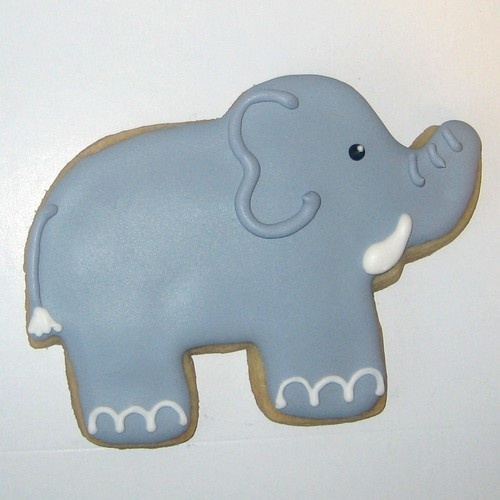 Elephant Cookie..potential baby shower favor