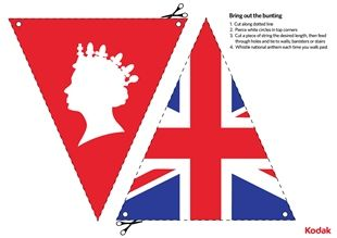 Queen's Diamond Jubilee bunting, by Kodak - a fun themed craft for children of all ages!    iChild.co.uk