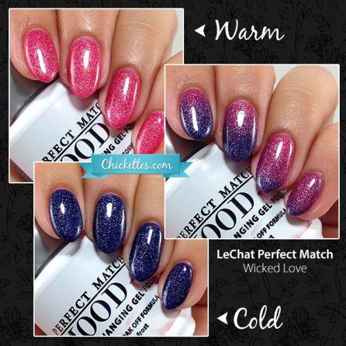 LeChat Pefect Match Mood Polish - Wicked Love - Swatch by Chickettes.com