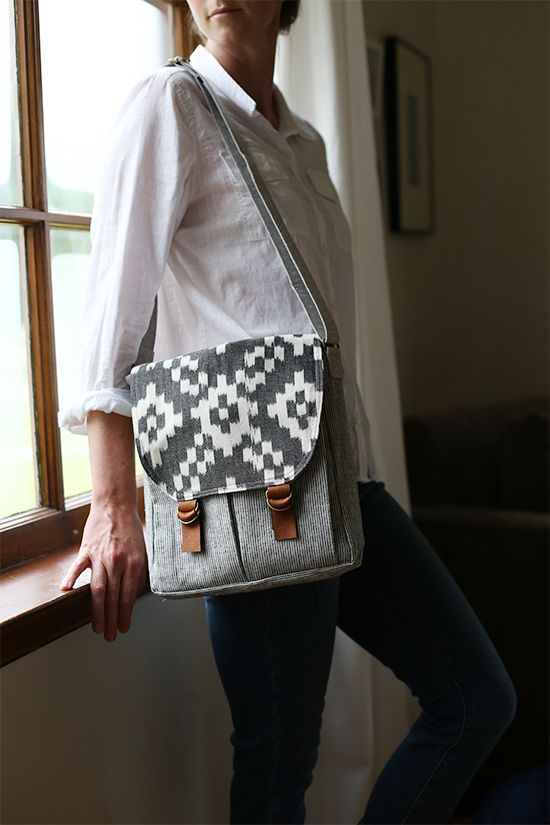 Campfire Messenger Bag PDF Pattern - now available for download. A fun bag to take anywhere!