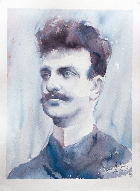 Jean Sibelius - portrait by ARTO ISOTALO