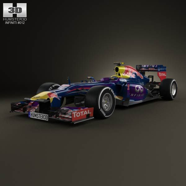 Infiniti RB9 Red Bull Racing F1 2013 3d model from humster3d.com. Price: $75