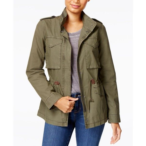 Levi's Military Jacket ($140) ❤ liked on Polyvore featuring outerwear, jackets, army green, brown military jacket, green camo jacket, army green jackets, olive green jacket and olive green army jacket