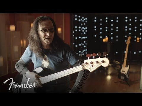 Geddy Lee of Rush explains what makes him giddy about his signature bass. In this video Rush bassist Geddy Lee discusses his Fender USA Geddy Lee Jazz Bass. The Geddy Lee Jazz Bass has been a staple in the Fender line since 1998, but earlier this year, Fender announced the addition of the U.S.A. version. The new U.S.A.