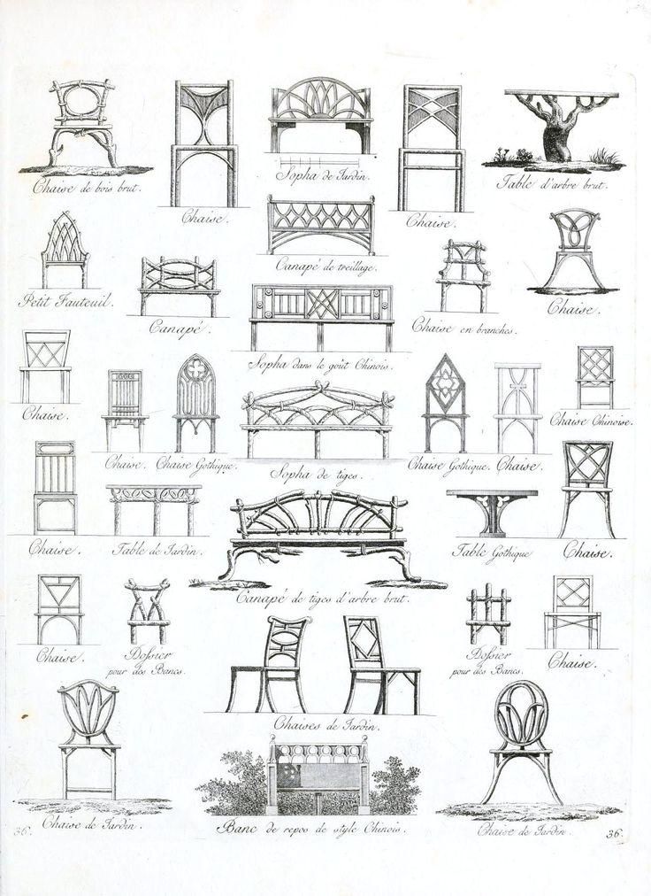 Vintage European garden furniture design PRINTABLE from Vintage Printable