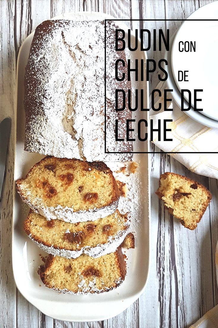 Budín con deliciosos Chips de Dulce de Leche. Una locura dulce para compartir #arequipe #manjar #dulcedeleche #budin #cake
