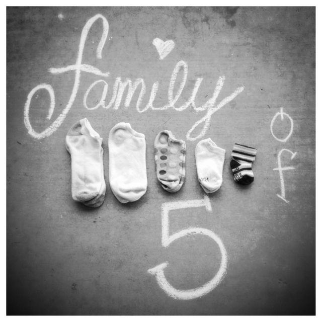 Family of 5 #aankondiging #zwangerschap #baby