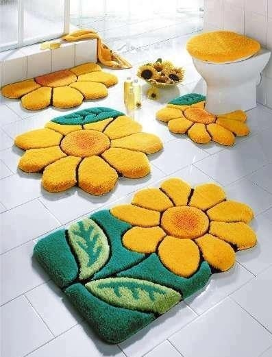 Sunflower Bathroom Mats Via So Many Things On Facebook