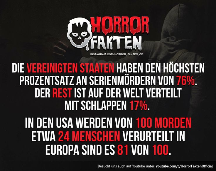 Statistik der Weltweit am meisten vorkommenden Serienmörder. Die USA ist Spitzenreiter.