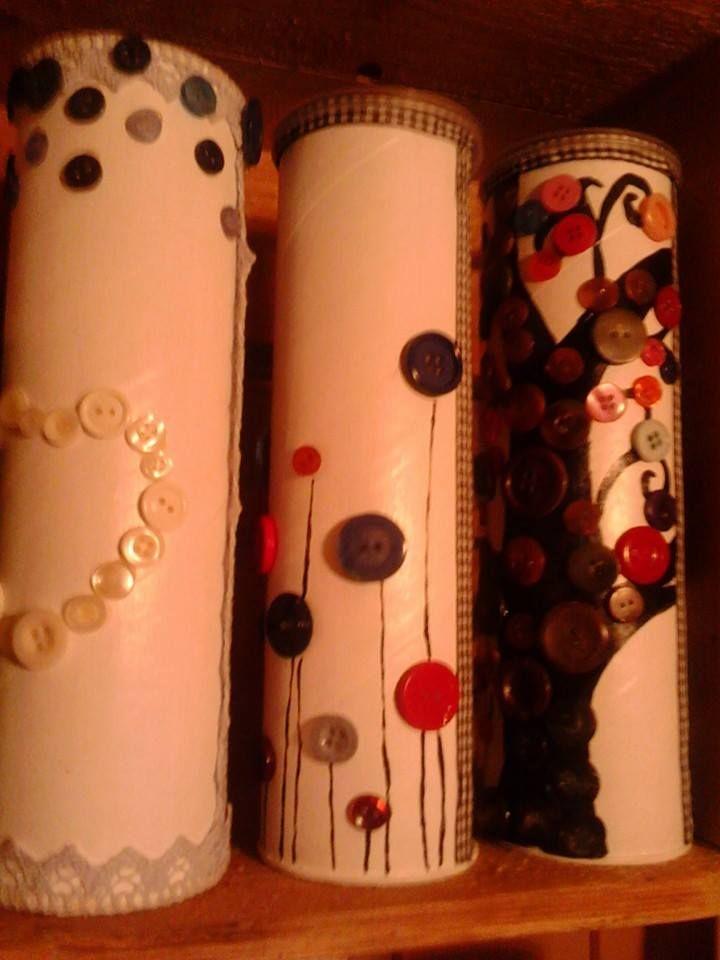 Pringels bokse, Tassimo kaffe, 3 forskjellige. Laget av Jane Trolle