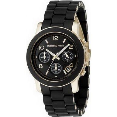 Michael Kors MK5191 Ladies landingsbaan zwart chronograafhorloge
