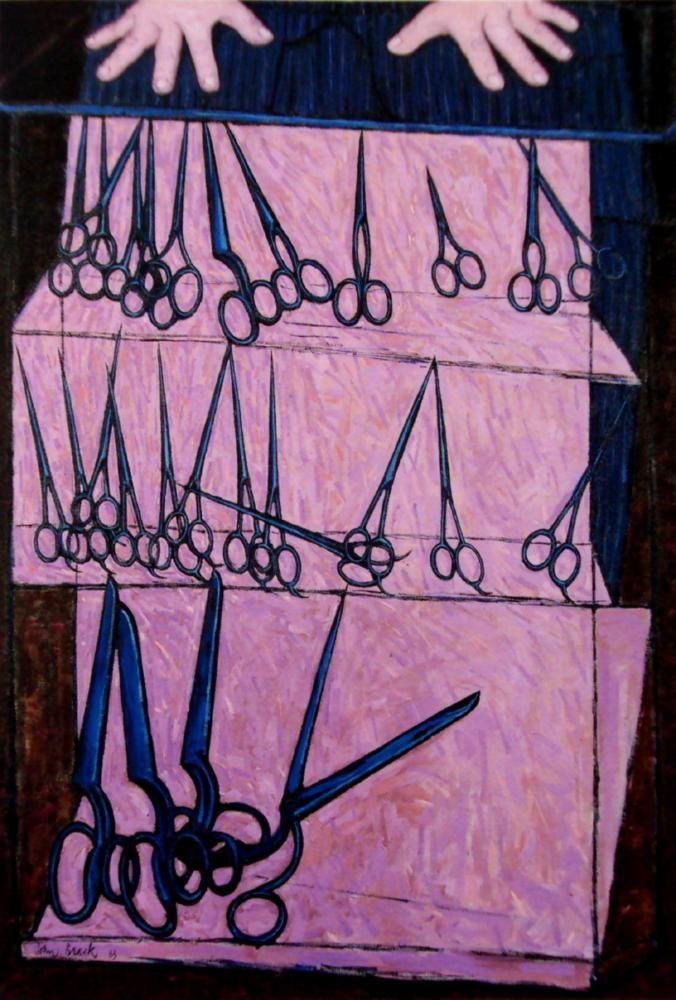 John Brack, The Scissors Shop