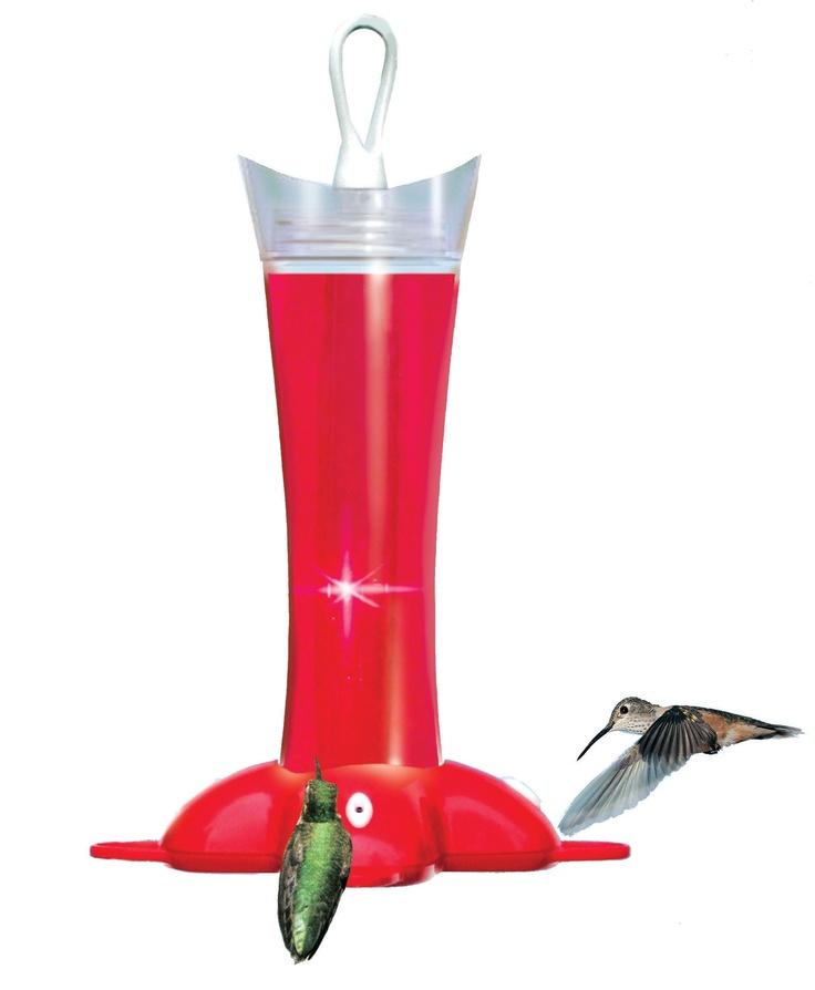 Deluxe Rose Petal Glass Hummingbird Feeder (12 oz