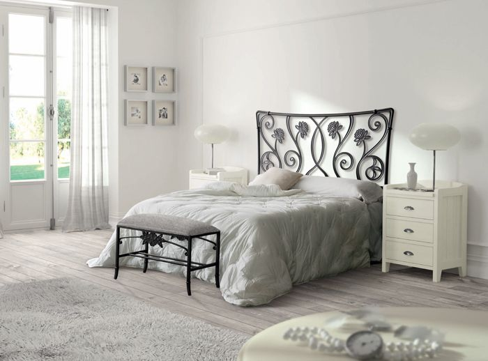 26 best images about dormitorios cl sicos de matrimonio on - Cabeceros de forja originales ...