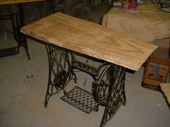 TABLE FROM AN OLD SEWING MACHINE STAND VINTAGE  Hand Made Repurposed Tables, Desk, And Kitchen Islands by ...
