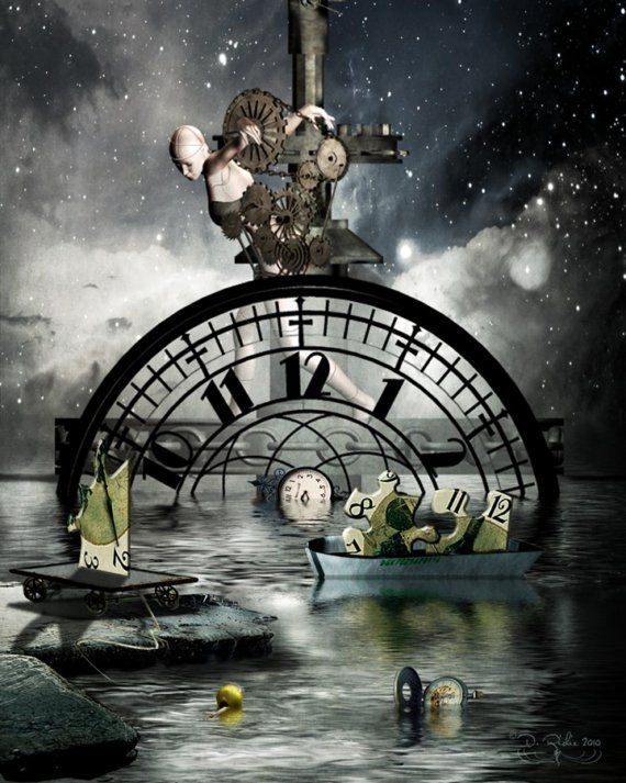 Moving Time 16x20 Surreal Art Print by ArtByResolution on Etsy, $45.00