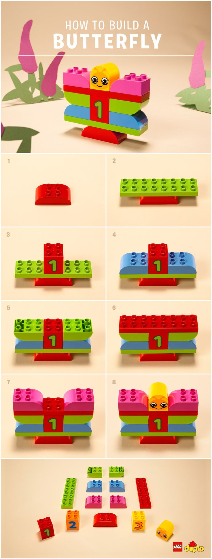 Butterflies are beautiful! But they can also help you and your preschooler explore the notion of change and transformation. Find out how you can build one together: http://www.lego.com/en-us/family/articles/the-no-mess-art-project-youll-both-love-cb0dbb2d678449059a8229ab5a7d37e3