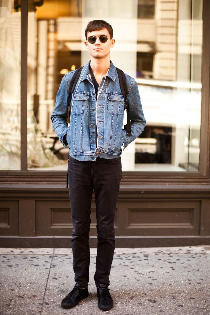 College Street Style Showdown: NYU Vs. Columbia #refinery29 http://www.refinery29.com/nyu-columbia-college-street-style#slide-11 Name: Christian CoppolaCampus: NYUWhat He's Wearing: APC denim jacket, American Apparel T-shirt, ACNE jeans, Common Projects shoes, and thrifted glasses.