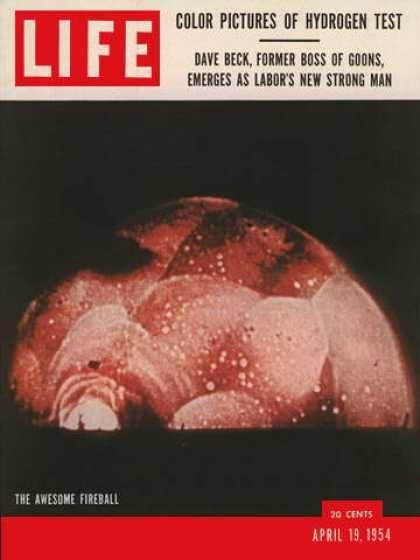 """The Awesome Fireball""Life Magazines, Magazines 1954, 1954 Premium, Awesome Fireball"
