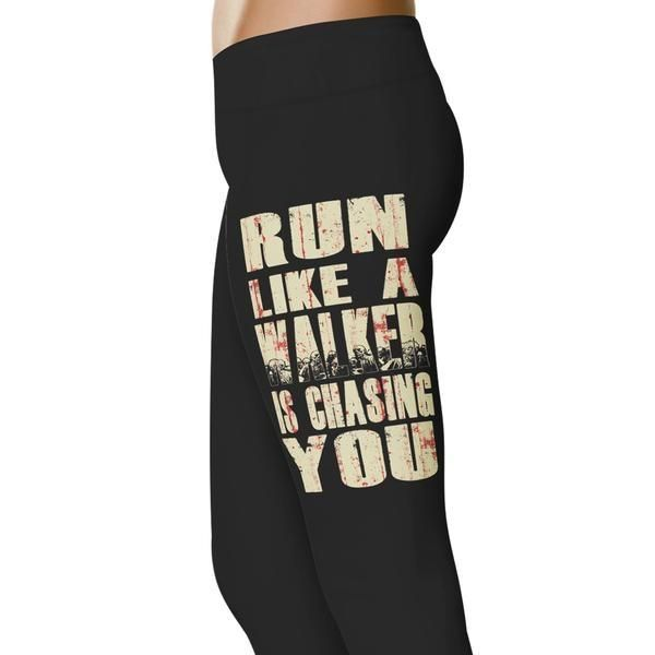 <3 We Love These 'Run Like A Walker Is Chasing You Walking Dead Inspired Leggings! Grab yourself a pair of these today - you won't find it in any other store! Click to learn more.