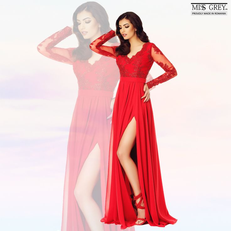 The red Darma dress combines precious materials with a vibrant color giving you an unforgettable appearance