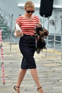 Petite Celebrity Style Bomb :: Kylie Minogue I love this skirt length on petites!