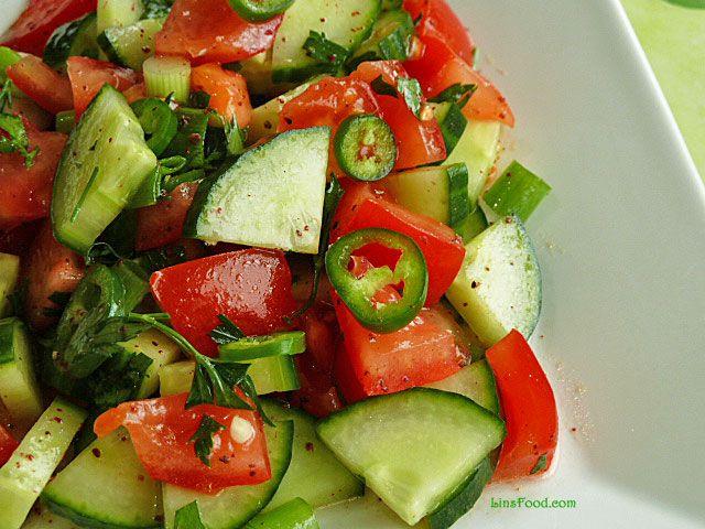 Coban Salatasi, Turkish Shepherd Salad, a classic Turkish salad, found everywhere in Turkey, especially popular in the summertime.
