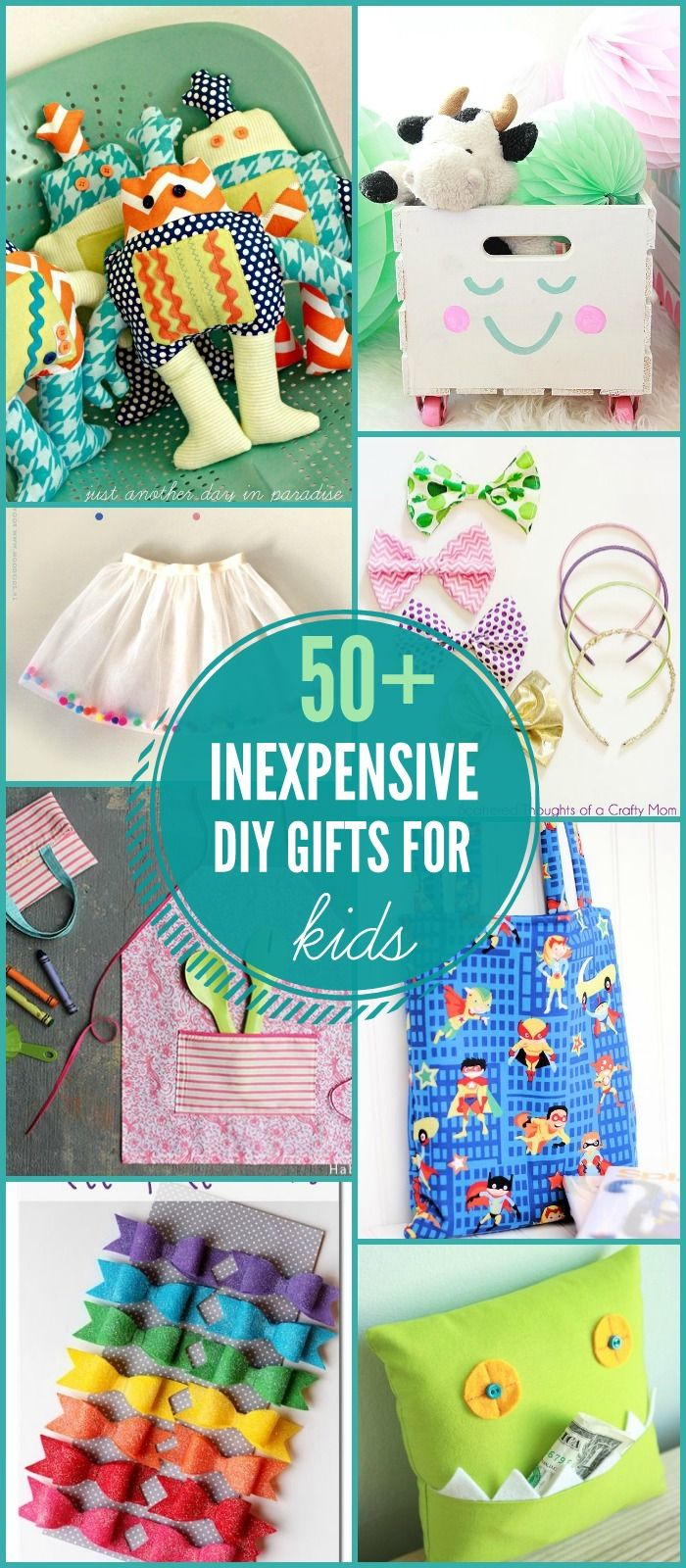 50+ DIY Gift Ideas for Kids on { lilluna.com } Lots of cute and fun ideas that kids will love!