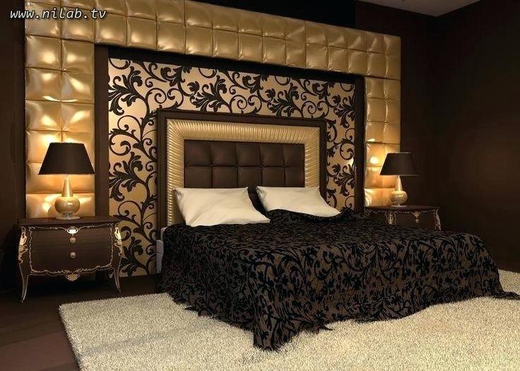 Schlafzimmer Ideen Schwarz Gold