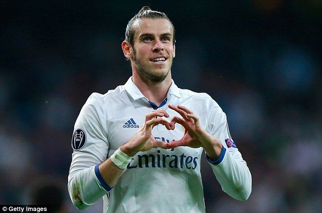 The  Madrid players enjoyed a day off after beating Napoli but it was business as usual for Bale