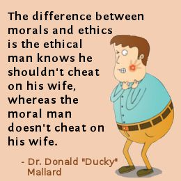 Dr. Donal Mallard on the difference between ethics and morality