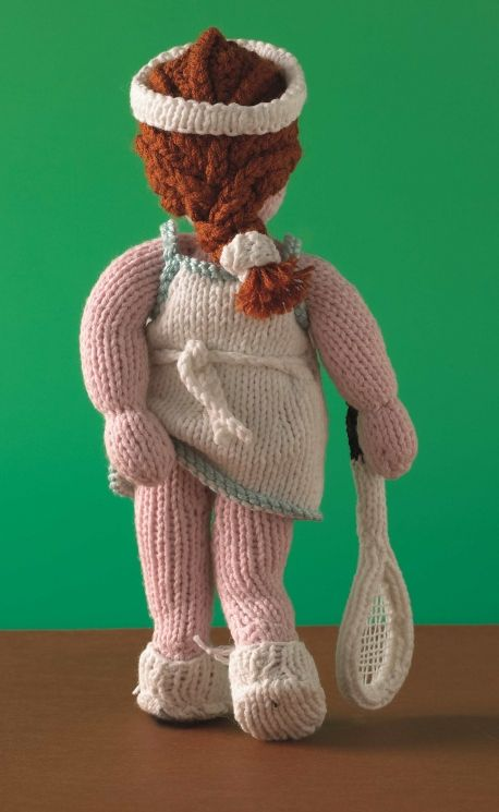 Knit an Athena Poster Girl - free knitting pattern to download over the Let's Knit website!
