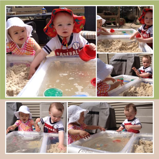 Pvc pipe diy sand water sensory bin table 60 minutes for Diy sand and water table pvc