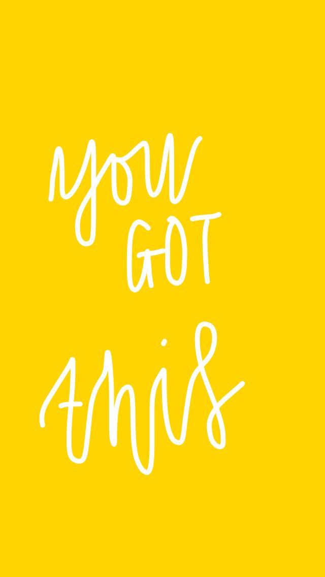 Aesthetic Yellow Quote Motivation Aesthetics Wallpaper