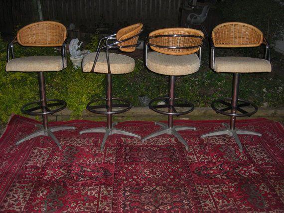 Mcm Chrome Bar Stool Bar Chairs Milo Baughman Marcel