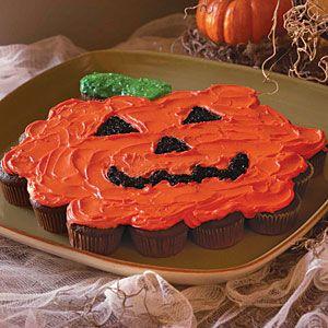 Quick and Easy Halloween Treats  | Mini Cupcake Pumpkin | MyRecipes.com