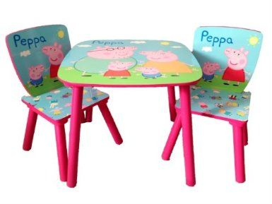 peppa pig table 2 chairs amazoncouk toys u0026 games