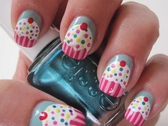 mooie nagels als cup cake,s