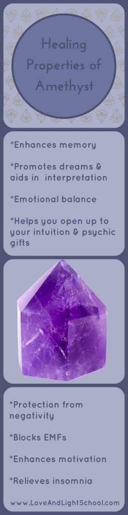 Healing Properties of Amethyst - Love & Light School of Crystal Therapy