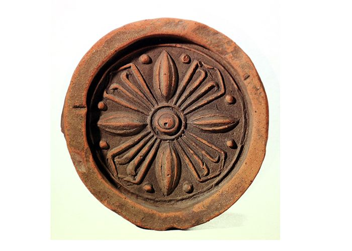 Roof-end Tile with Lotus Pattern. Goguryeo. The Central Museum of Kyunghee University