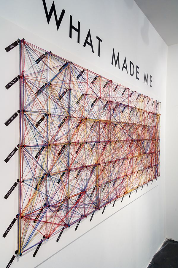 Interactive installation exploring a concept of a large-scale visualisation of information.