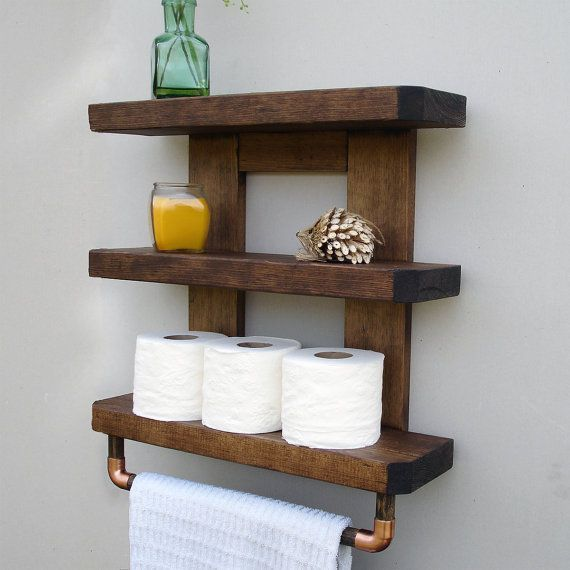 each shelf is handmade in pennsylvania usa a nicely rustic yet elegant touch for your bathroom this beautifully handcrafted shelf and towel rack will - Diy Toilettenpapierhalter Stand